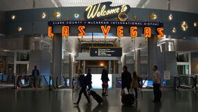Aéroport international de McCarran à Las Vegas Image stock