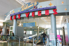 Aéroport international de McCarran à Las Vegas Photos libres de droits
