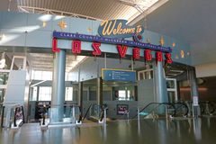 Aéroport international de McCarran à Las Vegas Photo libre de droits