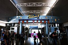 Aéroport international de McCarran à Las Vegas nanovolt Photo stock