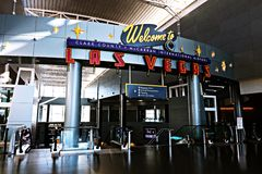 Aéroport international de McCarran à Las Vegas nanovolt Photos stock