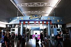 Aéroport international de McCarran à Las Vegas nanovolt Photo libre de droits