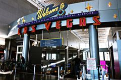 Aéroport international de McCarran à Las Vegas nanovolt Photographie stock libre de droits