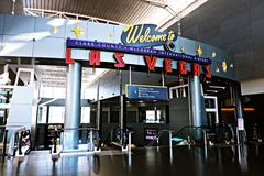 Aéroport international de McCarran à Las Vegas nanovolt Images libres de droits