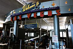 Aéroport international de McCarran à Las Vegas nanovolt Photographie stock