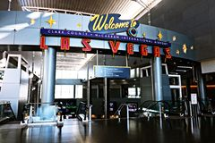 Aéroport international de McCarran à Las Vegas nanovolt Images stock