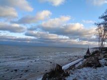 Báltico no inverno fotografia de stock
