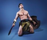 Bárbaro antiguo del guerrero Foto de archivo libre de regalías