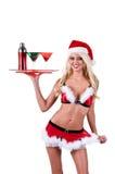Bárman da mulher do Natal Fotografia de Stock