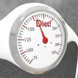 Báscula de baño de la dieta Foto de archivo