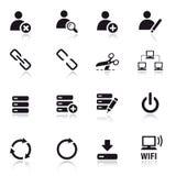Básico - ícones clássicos do Web Fotografia de Stock Royalty Free
