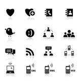 Básico - ícones sociais dos media Foto de Stock