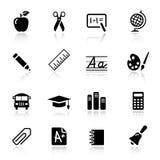 Básico - iconos de la escuela Fotografía de archivo libre de regalías
