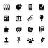 Básico - iconos de la oficina y del asunto Fotos de archivo