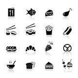 Básico - iconos del alimento Foto de archivo libre de regalías