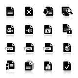 Básico - iconos del formato de archivo stock de ilustración