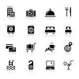 Básico - iconos del hotel stock de ilustración