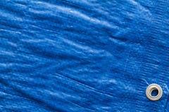 Bâche de protection bleue Photo libre de droits