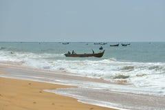 Bâteaux de pêche au Kerala, Inde Photographie stock libre de droits