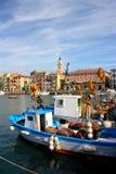 Bâteaux de pêche aux Imperia, Italie Photo libre de droits