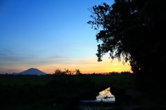 Bâti Agung Photo libre de droits