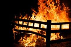 Bâti brûlant Photographie stock