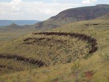 Bâti Bruce près de parc national de Karijini, Australie occidentale Photo libre de droits