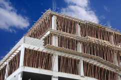 Bâti de brame et de faisceau en effectuant de la construction neuve Photo libre de droits