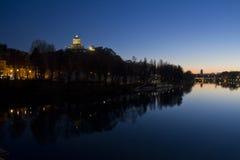 Bâti de Cappuccini et pont d'Umberto I Photos libres de droits