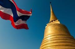 Bâti de Gloden (Wat Sraket) à Bangkok Photos libres de droits