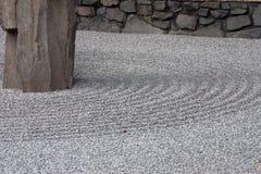 Bâti de gravier dans le jardin de zen Photographie stock