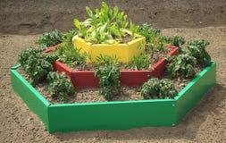 Bâti de jardin dans le type de la conception d'horizontal photo libre de droits