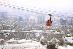 Bâti de Kok-tobe à Almaty, Kazakhstan Photographie stock libre de droits