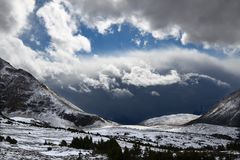 Bâti Edith Cavell Storms Canada photographie stock libre de droits