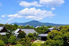 Bâti Hiei et palais japonais Image libre de droits