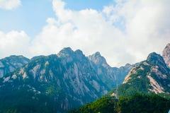 Bâti Huangshan (chaîne de Chinois de montagne) Image libre de droits
