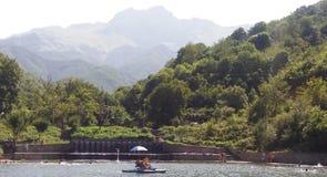 Bâti Khustup et petit lac Images libres de droits