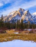 Bâti Kidd, une montagne à Kananaskis dans le Canadien Rocky Mountains, Alberta image stock