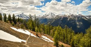 Bâti Nelson, montagnes de Purcell, Colombie-Britannique, Canada image stock