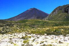 Bâti Ngauruhoe, croisement alpin de Tongariro Photos libres de droits