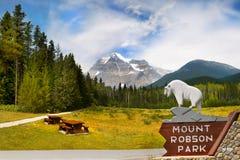 Bâti Robson Park, Canadien les Rocheuses Photo libre de droits