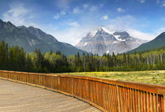 Bâti Robson Park, Canadien les Rocheuses Photos stock