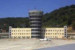Bâtiment à l'aérodrome de l'aéroport international Sotchi Images stock
