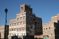 Bâtiment à Sanaa, Yémen images libres de droits
