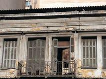 Bâtiment abandonné, Athènes, Grèce images libres de droits