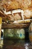 Bâtiment abandonné dans Jajce Photographie stock