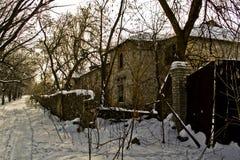 Bâtiment abandonné dans la forêt Image libre de droits