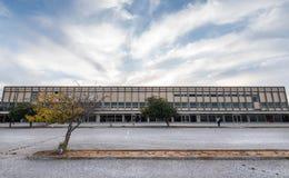Bâtiment abandonné par aéroport Image libre de droits