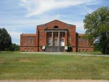 Bâtiment abandonné par université de rouille Images libres de droits