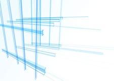Bâtiment abstrait des lignes illustration de vecteur